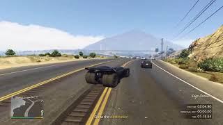 GTA 5 - Great Ocean Highway time trial - with Vigilante (Batmobile)
