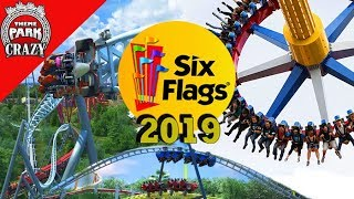Six Flags NEW for 2019 RIDES - Analysis & Overview