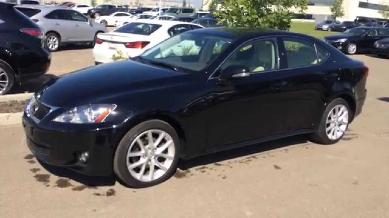 lexus certified pre owned black 2011 is 250 awd leather with moonroof review millet ab youtube. Black Bedroom Furniture Sets. Home Design Ideas