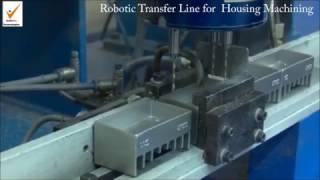 Robotic Transfer Line for Housing Machining  - Castal Technologies