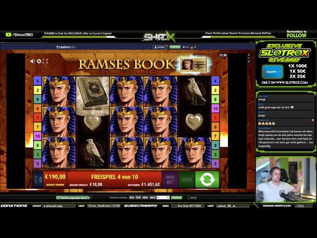 Ramses Book SUPER INSANE BIG WIN Gamomat
