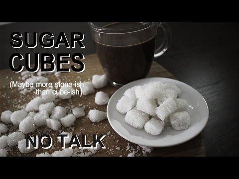 Make you own sugar cubes - No Talk ASMR cooking recipe