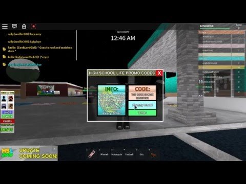 roblox high school life fun + promo code - YouTube