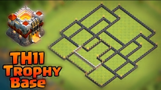 Clash Of Clans - Best TH11 Anti-Lavaloonion & Anti Dragon Trophy/War Base (2017) Base Design