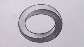 How To Draw a Three Dimensional Oval - Optical Illusion