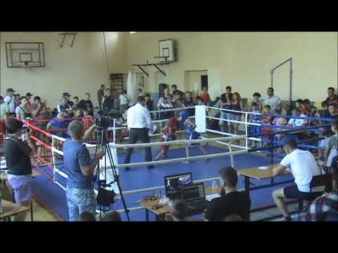 29 кг Панченко Никита  - Макаров Тимофей  , 4 турнир по боксу Азовский ринг 07 08 2019 г  Бердянск