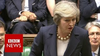 May teases 'unscrupulous boss' Corbyn - BBC News