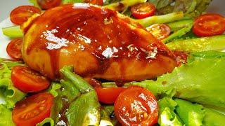 Аппетитная куриная грудка под соусом