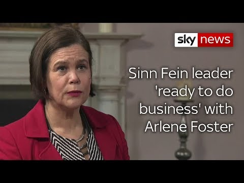 Mary Lou McDonald 'ready to do business' with Arlene Foster