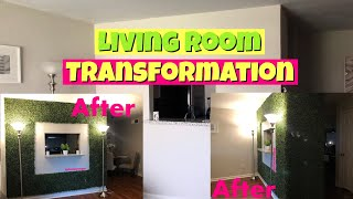 Why your home decor is BASIC! | DIY FAUX PLANT WALL |ALYSSA FOREVER DIY| Living Room Transformation