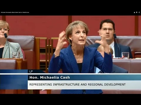 Michaelia 'Bombastic Abuse Mode' Cash on WestConnex