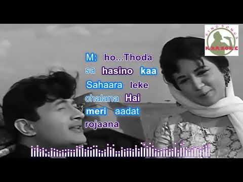 Likha Hai Teri Aankhon Mein Hindi karaoke for Male singers withlyrics