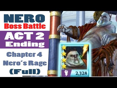 Gods of Rome NERO Boss Fight - Act 2 Ending [Chapter 4 Nero'