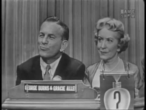 What's My Line?  George Burns & Gracie Allen; Margaret Truman panel Jun 6, 1954