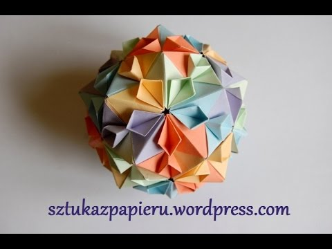 Origami Instructions: Sparaxis Star and Kusudama (Ekaterina ...   360x480
