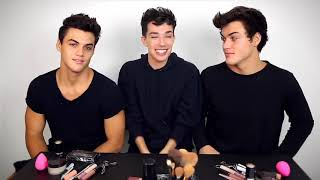 Dolan twins getting their makeup done by sister James moments