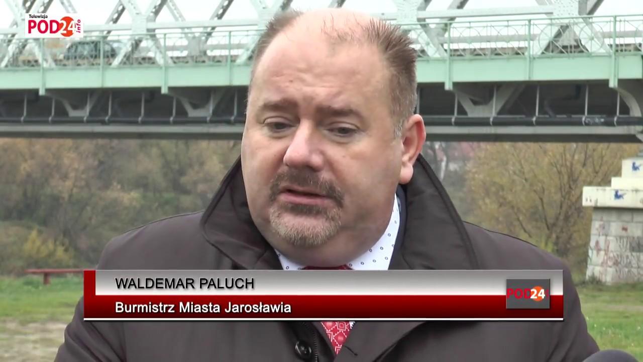 Konferencja prasowa  dot  budowy drugiego mostu na rzece SAN