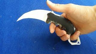 Как сделать бумажный Керамбит нож