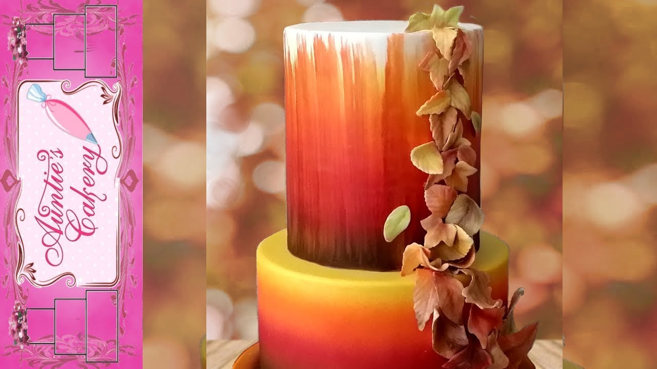 Fall Leaves Autumn Wedding Cake Youtube