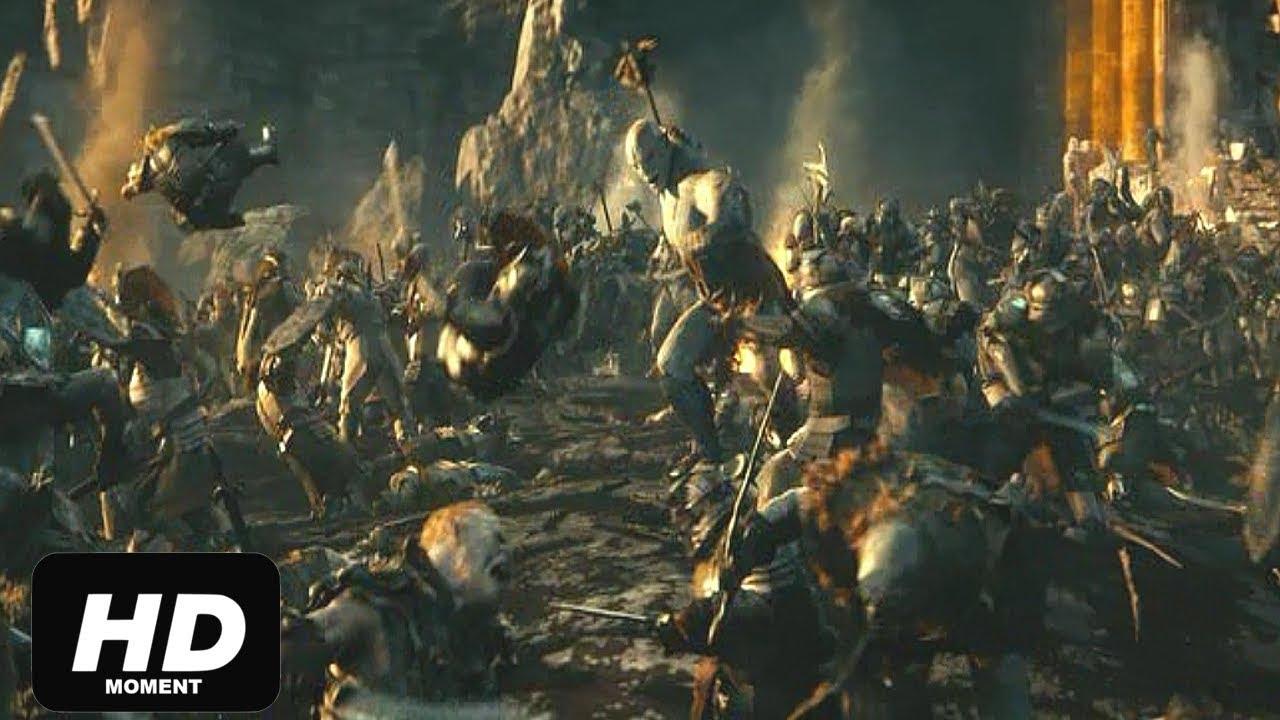 Битва гномов с орками, Азог убивает короля гномов-Хоббит нежданное путешествие, момент из фильма