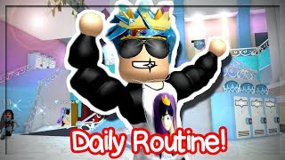 MY DAILY ROUTINE IN ROYALE HIGH SCHOOL! (Roblox Roleplay)