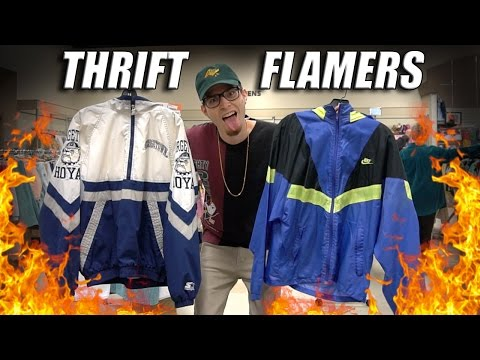 Trip To The Thrift #136.5 Vintage Nike, Space Jam, And Starter Flamers!! Huge Haul!