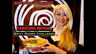 CAROLINA REAPER RAMEN CHALLENGE | National Ramen Day | Ramen Okawari One Year Special | RainaisCrazy
