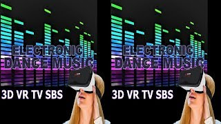 3D VR TV music video Side by Side SBS google cardboard музыка для виар очков и 3д тв