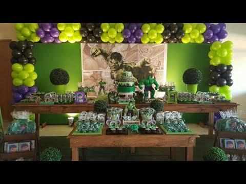 fiesta de hulk party 2018 boys decoracion mesa de dulces