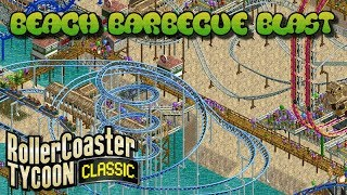 Fun at the Beach / Beach Barbecue Blast | Rollercoaster Tycoon Classic | Wacky Worlds | Let's Play!