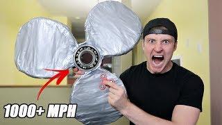 DIY GIANT DUCT TAPE FIDGET SPINNER!! (RARE UNBREAKABLE SPINNER) TOYS & TRICKS
