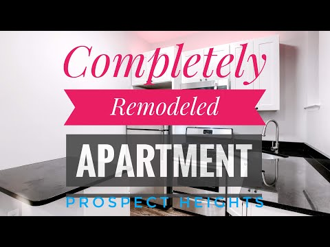 Completely Remodeled 2 Beds Apartment in Prospect Heights with Private Outdoor Space! Video Tour NYC