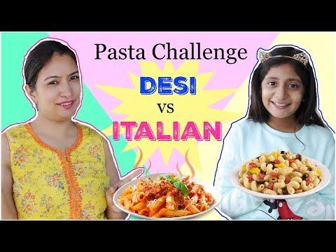 pasta-making-challenge-|-desi-vs-videshi-|-#chef-#food-#mymissanand-#cookwithnisha