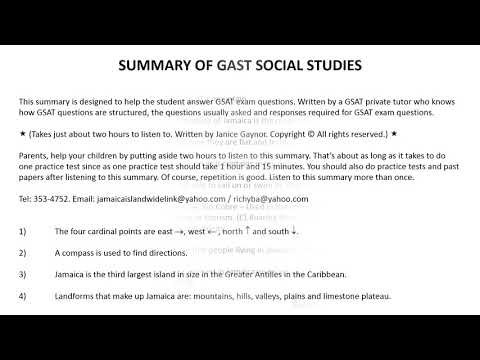 GSAT Social Studies Part 1 YouTube