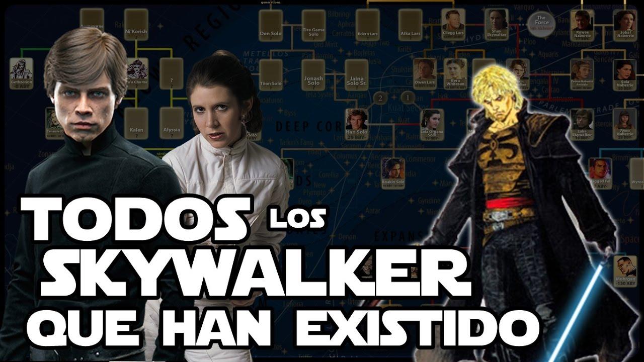 Star wars toda la familia skywalker youtube for Arbol genealogico star wars