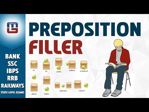Preposition Filler  English  All Competitive Exams  Youtube