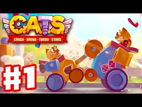 CATS: Crash Arena Turbo Stars - Gameplay Walkthrough Part 1 - Build & Battle Robots! (iOS, Android)