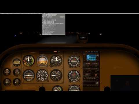 X-plane 10 - Flight 3 - Night Flying C-172 Peace River Alberta Sightseeing