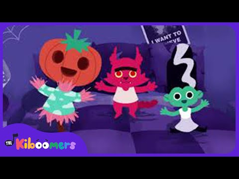 5 Little Monsters Jumping on the Bed  Halloween Songs for Children  The Kiboomers  Songs for kids