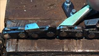 видео Напильник для заточки цепи бензопилы
