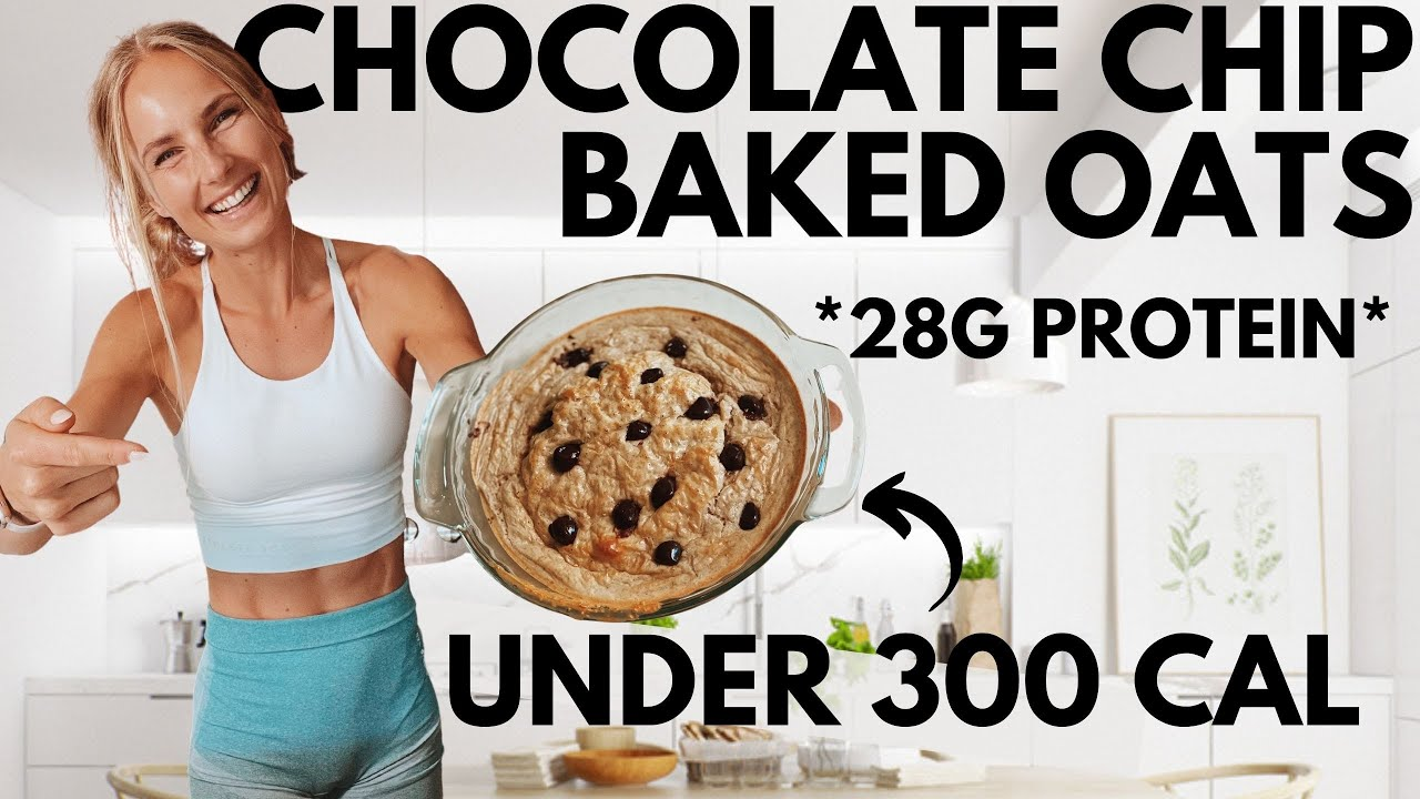 Protein Chocolate Chip Baked Oats *tastes like cake* Low Calories w.Morning Ritual Tip