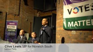 "Clive Lewis: ""too many people feel that their vote doesn't count"""