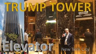 Elevator @ TRUMP TOWER NYC - Manhattan NY