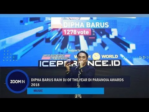Dipha Barus Raih DJ Of The Year di Paranoia Awards 2018 Mp3