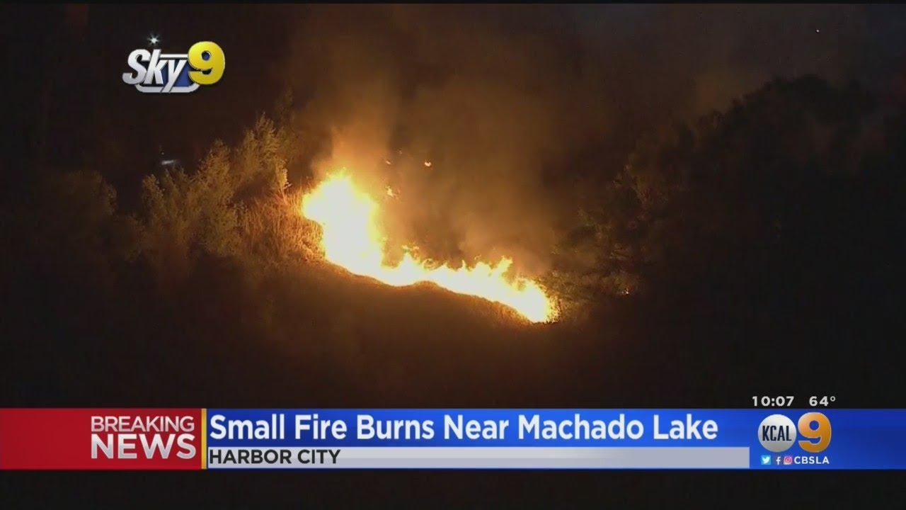 Firefighters Knock Down Small Fire Near Machado Lake