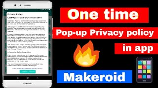 Pop-up Privacy policy System in App 🔥 Makeroid / Thunkable
