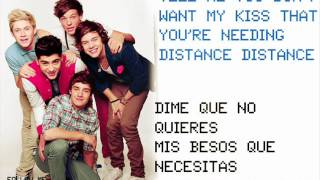 One Direction - Tell Me A Lie ( Ingles y español +Pictures )