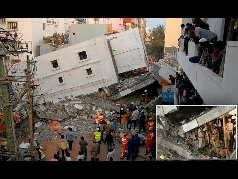 Building under construction collapses in Bangalore