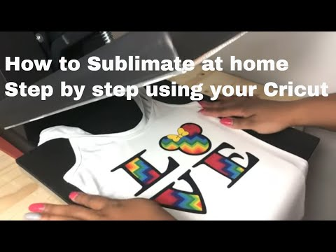 Sublimation Printing On T-shirt At Home Using Cricut Design Space | Dye Sublimation