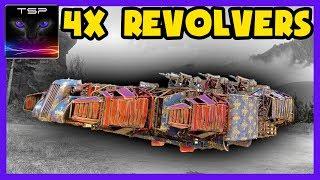 Crossout #335 ► DIRTY HARRY - Quad Corvo Revolver Hovercraft Build